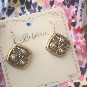Brighton Yalta Earrings  NWT & Bag